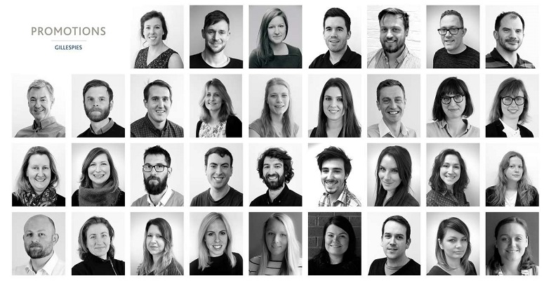 Gillespies promotes 34 across four UK offices
